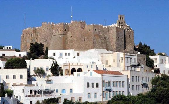 monasterio de san juan en la isla de patmos grecia