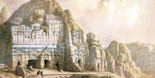 Lámina de la Avenida de las Tumbas en Petra