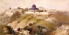 Lámina con paisaje de la ciudad antigua de Jerusalén (ISRAEL)