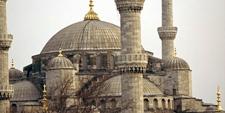 Detalle de la Mezquita de Santa Sofía en Estambul (Turquía)