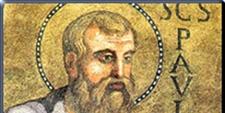 Detalle de un icono de San Pablo