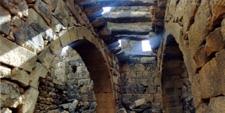 Interior de Umm al-Yimal en Jordania