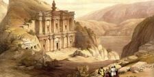 Lámina de la Tumba del Monasterio en Petra